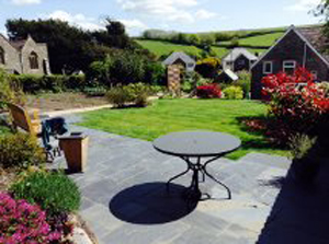 lovely slate patio from ardosia