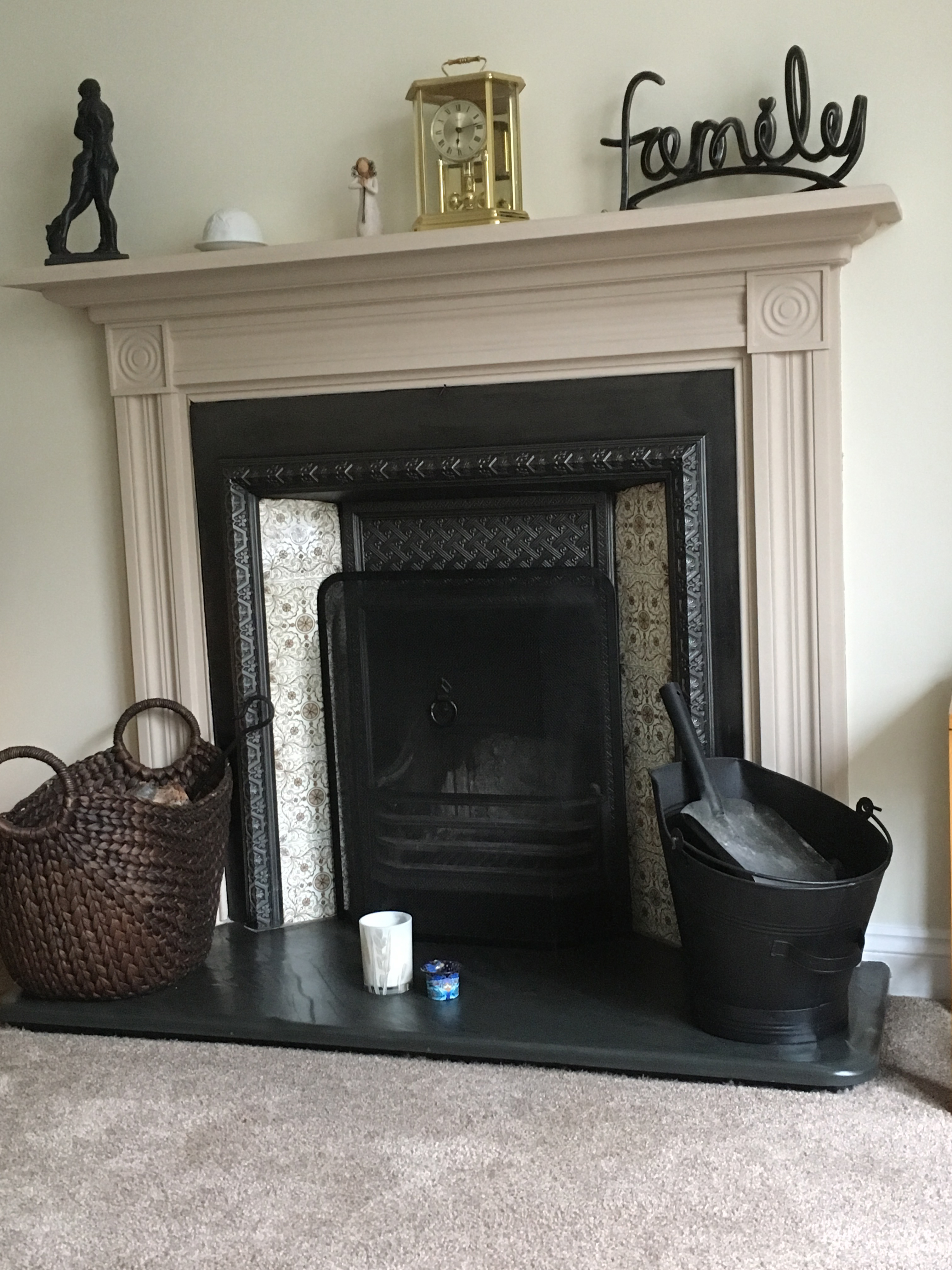and black tiled electric with white fireplace pin hearth inset colour wall victorian down fireplaces