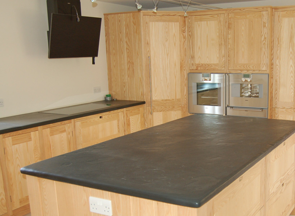 Photographs of Slate Kitchen Worktops, Work Surfaces, Sink Surrounds