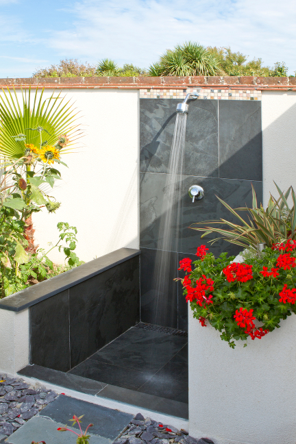 Swimming Pool Showering : Gallery of outdoor slate products barbecue and pool surrounds