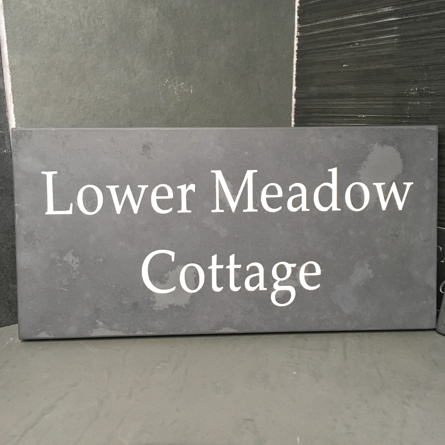 slate house signs number and business name plates. Black Bedroom Furniture Sets. Home Design Ideas