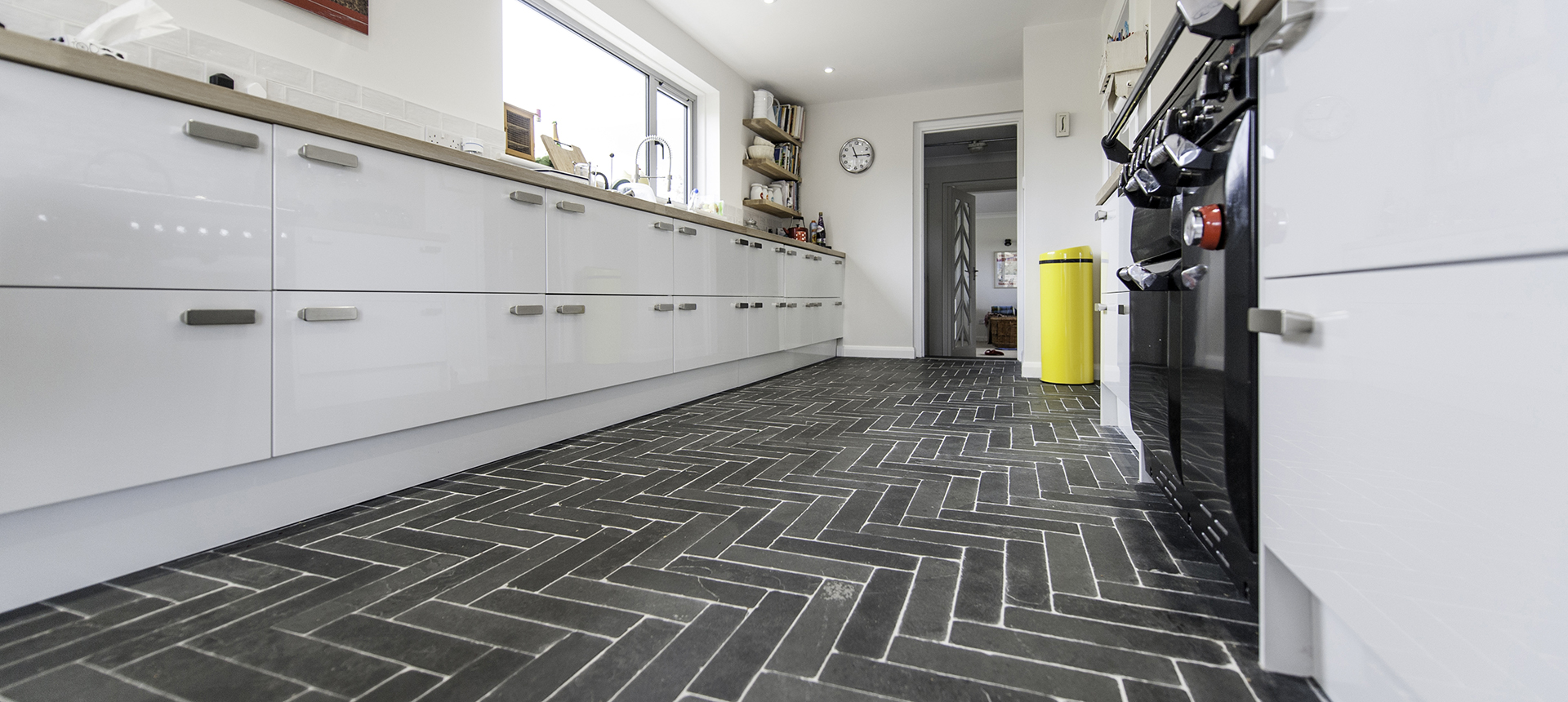 Slate floor tiles, cobbles and flagstones
