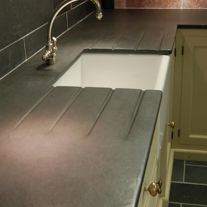 Brazilian black 25mm pencil edged worktops