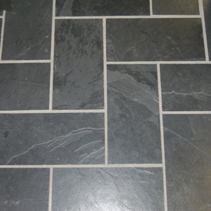 400x200 Brazilian black slate riven tiles