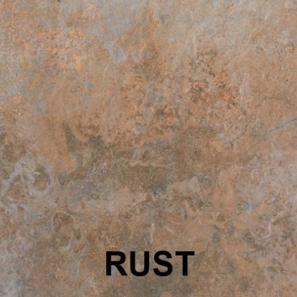 Rust porcelain paving