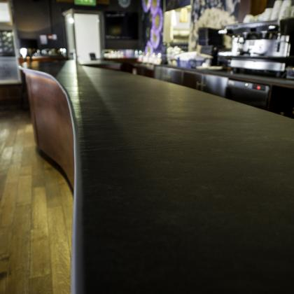 Picture of a commercial bar worktop in slate