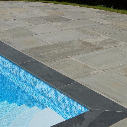Brazillian Black Slate Bullnosed Pool Copings