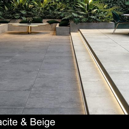 City Anthracite and Beige Porcelain Patio