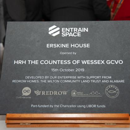 Erskine House slate engraving sign