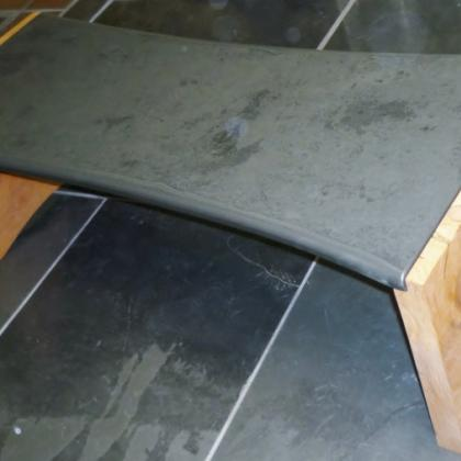 Monterey Pine and Shaped Slate Coffee Table