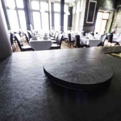 Hotel servery in slate bespoke made by Ardosia