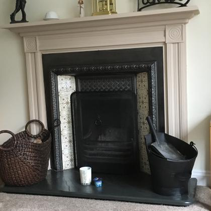 Fire hearth in slate made for a large Victorian fireplace