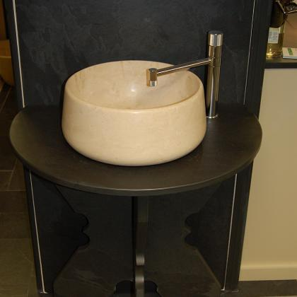Bathroom Wash Stand Black Brazilian 25mm Slate