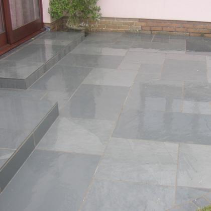 Exterior Flooring Brazilian blue grey 10/12mm riven finish
