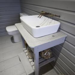 Contemporary square bathroom sink