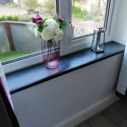country cottage style window sill made from slate