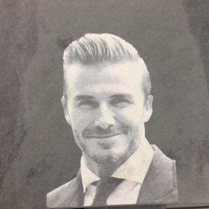 David Beckham engraved image