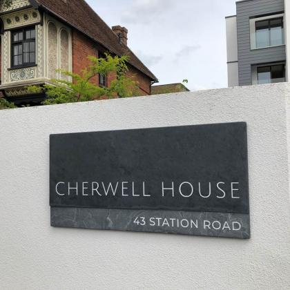 Cherwell House engraved slate sign