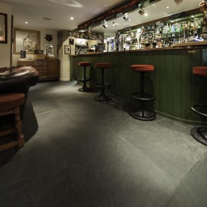 Slate flagstones supplied for a traditional Devon pub for a flagstone flooring