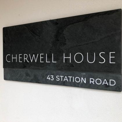 Contemporary bespoke house sign from two different colours