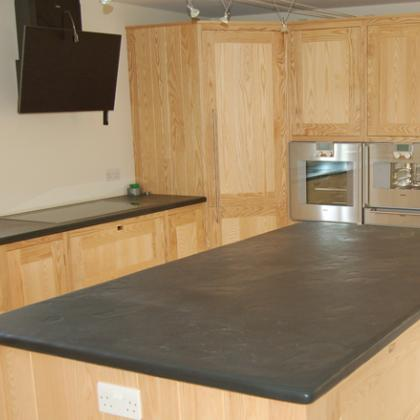 Kitchen Work Surfaces 40mm thick brazilian black slate