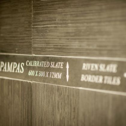 Riven Slate tiles and border tiles