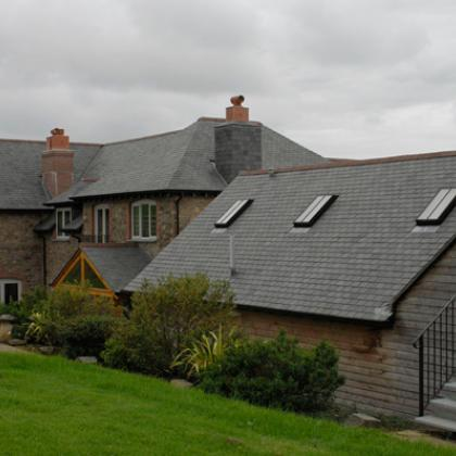 Slate Roof tiles on a Devon farmhouse
