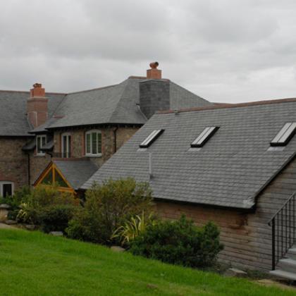 Slate Roof tiles on a Devon farmhouse