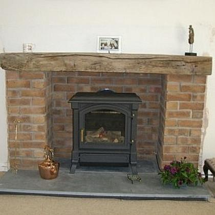 rustic slate hearth