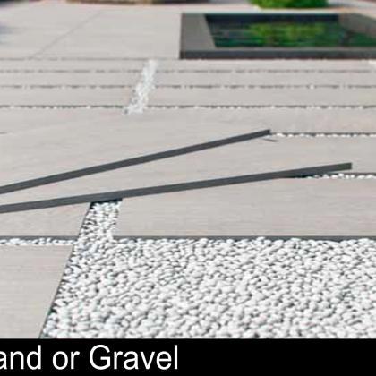 Sand or Gravel Porcelain Patio