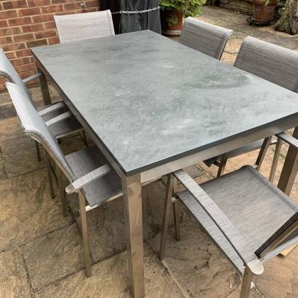 slate table top for outdoor garden table