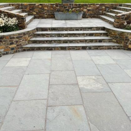 slate patio steps and outdoor slate