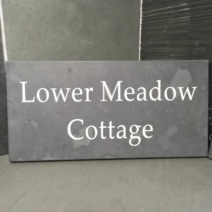 House name sign engraved for a cottage