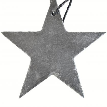 Slate star with a rope