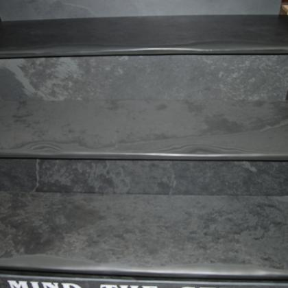 Close up of slate finish