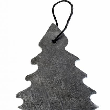 Slate Xmas Tree with Rope