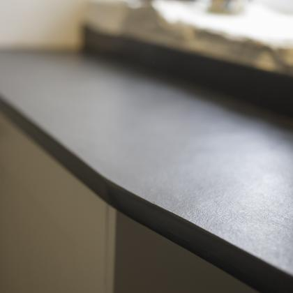 Square edged slate worktop