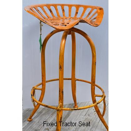 Tractor Seat 'Stool' Distressed White or Yellow
