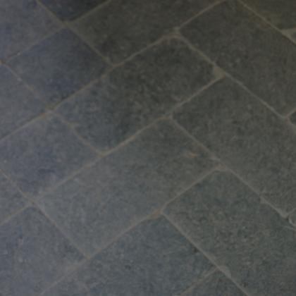 tumbled Brazilian black slate cobbles