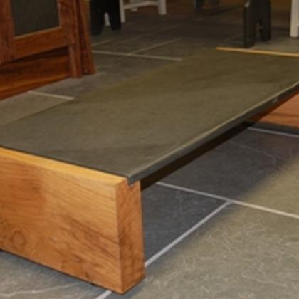 1.2Mtr Oak & Slate Coffee Table