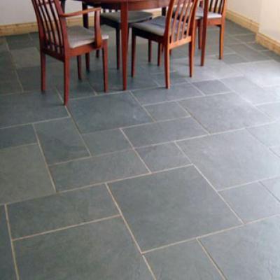 4 Tile Size Random Pattern Slate Floor