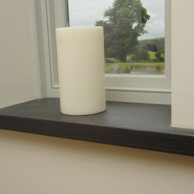 40mm Thick Black Slate sill with Pencil Edge