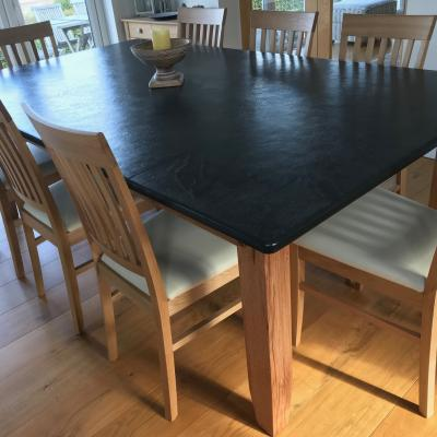 slate dining room table custom made