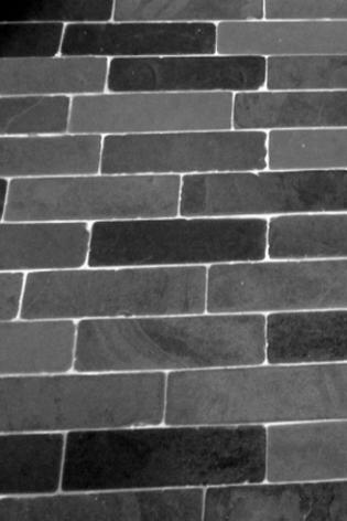Rectangular slate floor tiles