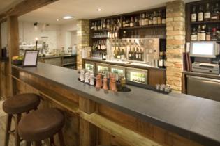 High end pub slate bar worktop