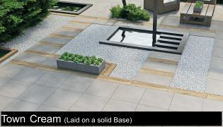 beach cream porcelain paving slabs