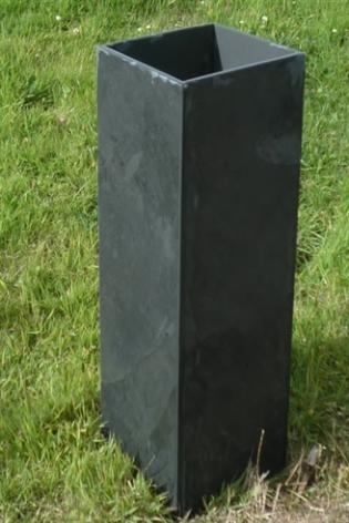 Bespoke Tall Black Slate Planter