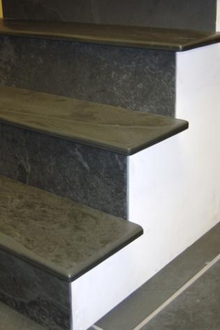 Indoor slate steps for stairs