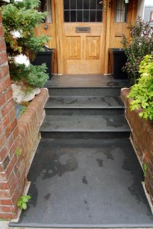 Front path and Steps in Black Slate