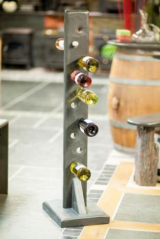Tall Wine Rack made from solid slate block